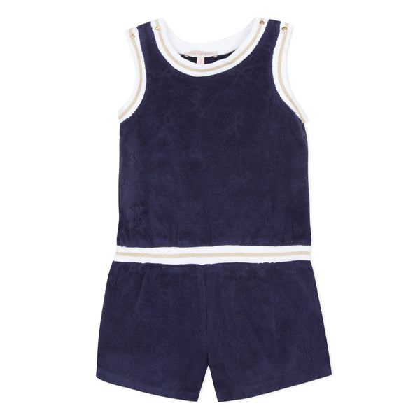 Navy Blue French Terry romper