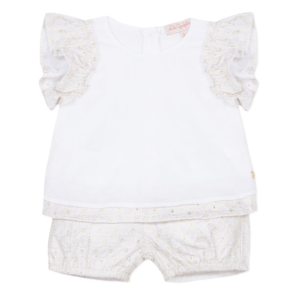 White short 2-pcs set