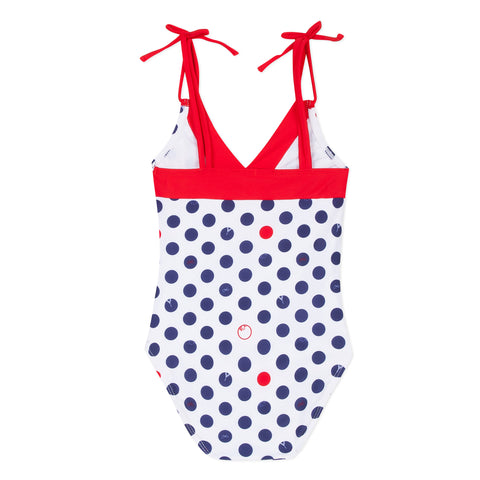 Eiffel Tower Swimsuit with dots