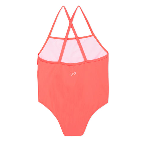 Coral 1-pc swimsuit