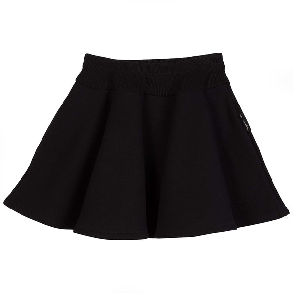 Black fleece cyclone skirt
