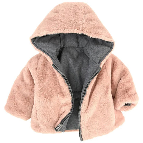 Reversible hooded parka