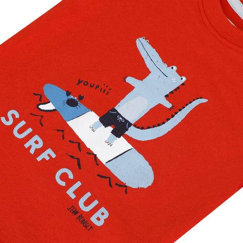 Red crocodile T-shirt