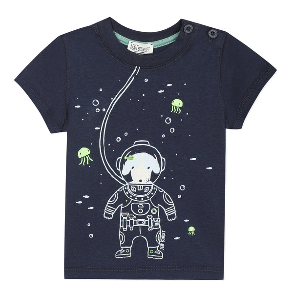 Astronaut navy short sleeve T-shirt