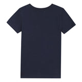 Navy blue T-shirt with visual