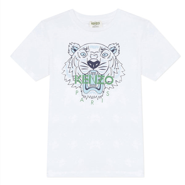 * NEW *  White T-shirt with fish print