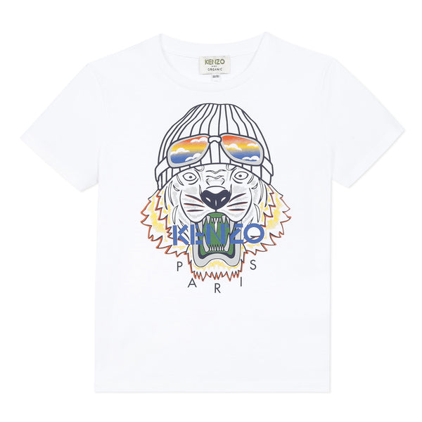 White T-shirt with tiger