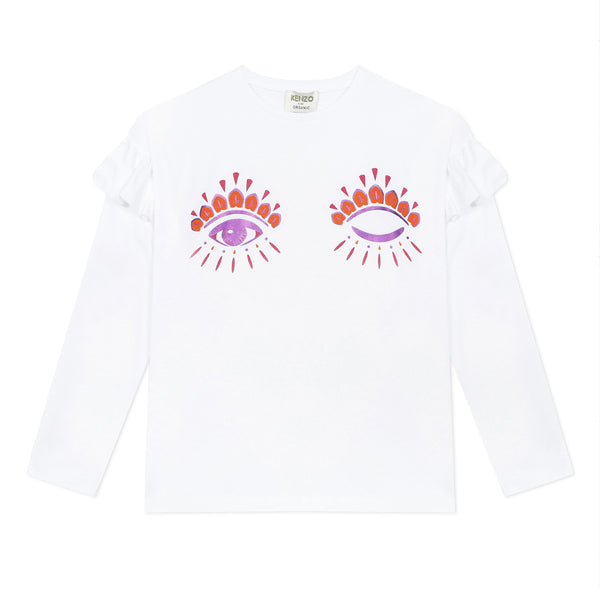 White ruffle T-shirt