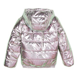 Glittery pink hooded jacket