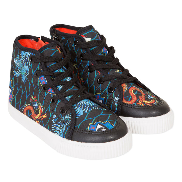 Printed high-top sneakers