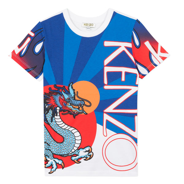 Printed dragon T-shirt