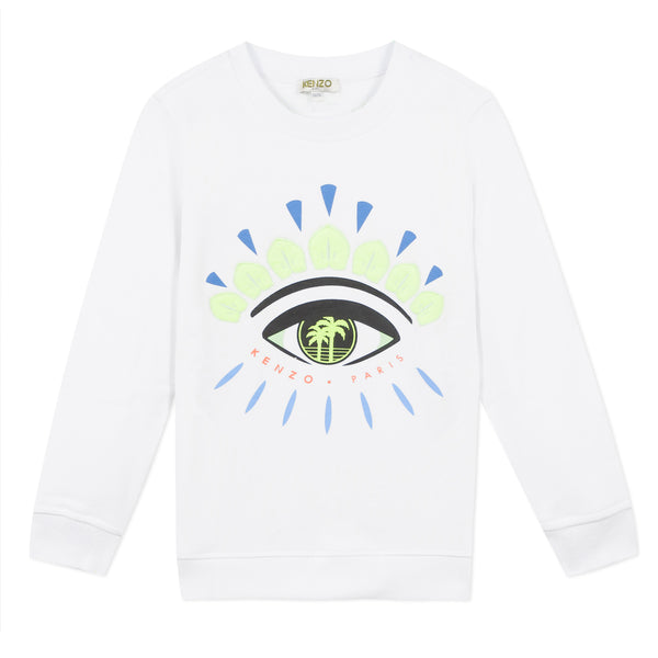 White sweatshirt with Iconic eye