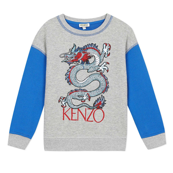 Sweatshirt with a dragon visual