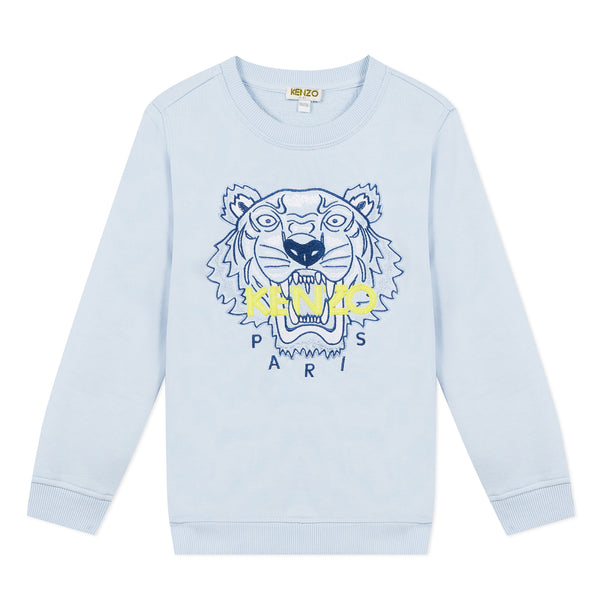 Light blue sweatshirt with tiger