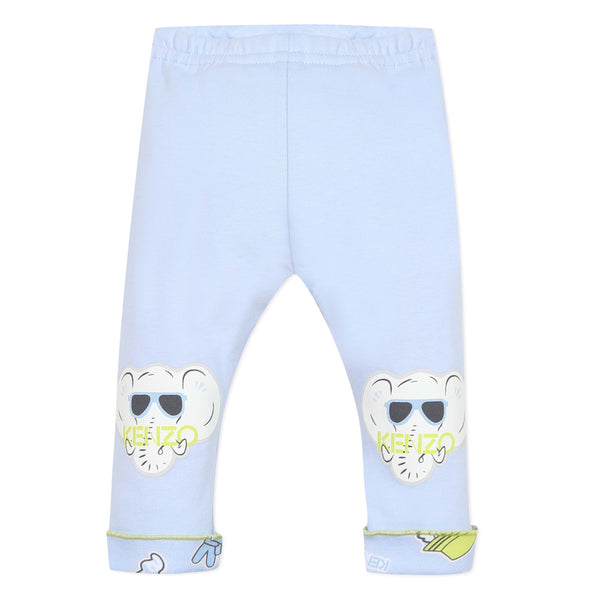 Light blue reversible joggers