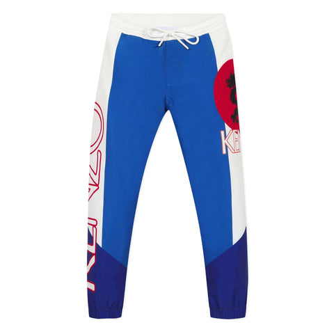 Blue dragon nylon joggers