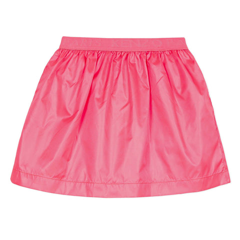 Pink flared skirt