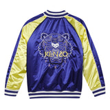 Blue tiger bomber jacket