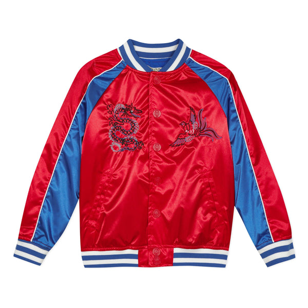 Red tiger bomber jacket