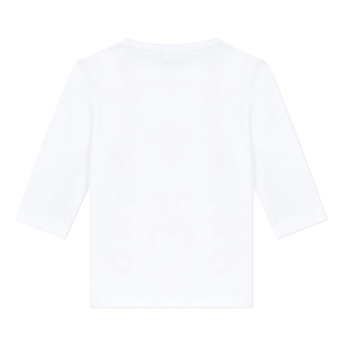 White Logo T-shirt with animals