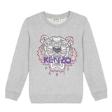 *NEW*  Grey sweatshirt with embroidered tiger