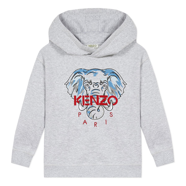 Marl grey hoodie with elephant