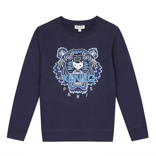 *NEW* Navy blue sweatshirt with embroidered tiger