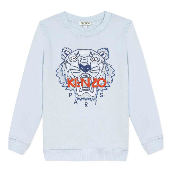 Light blue sweatshirt with embroidered tiger