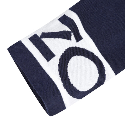 Navy blue logo pants