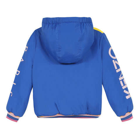 Colored hooded jacket