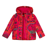 *NEW*  Pink printed puffa jacket