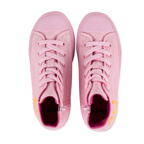 *NEW*  Pink high-top sneakers