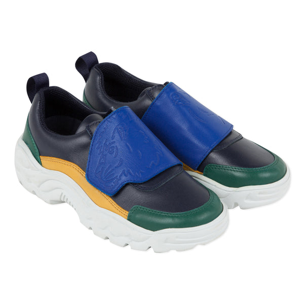 Colored light leather sneakers