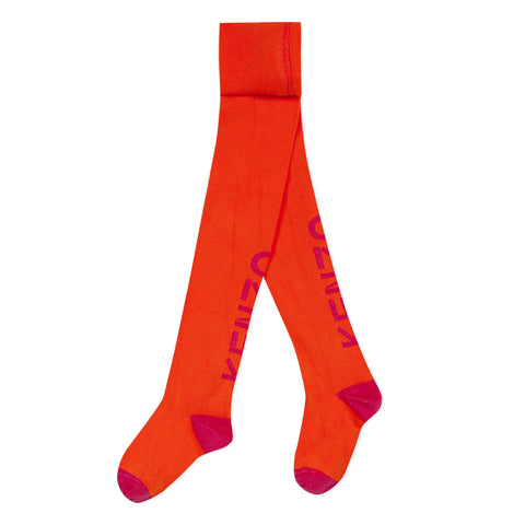 Bloog orange logo tights