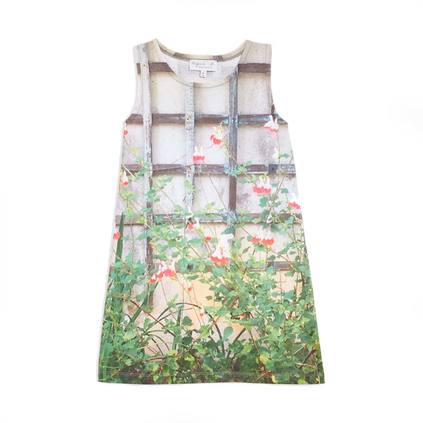 Flower garden photoprint dress