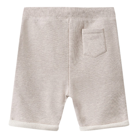 Embroidered fleece bermuda shorts puce