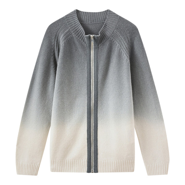 Cashmere cardigan gray blue