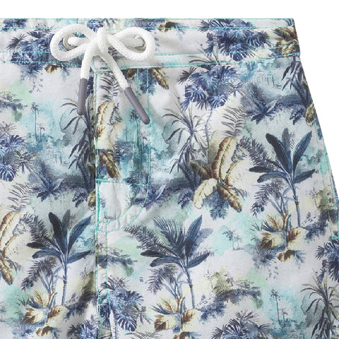 Printed bathing trunks green print