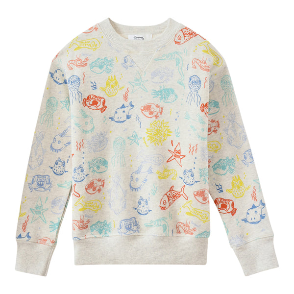 Sea monster sweatshirt ecru
