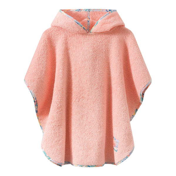 Swim poncho with liberty fabric details