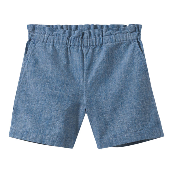 Cotton chambray shorts ink