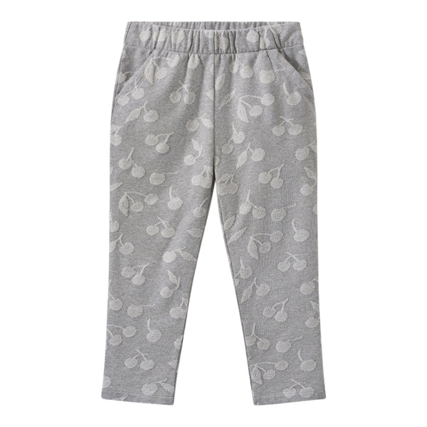 Jacquard fleece sweatpants heathered gray