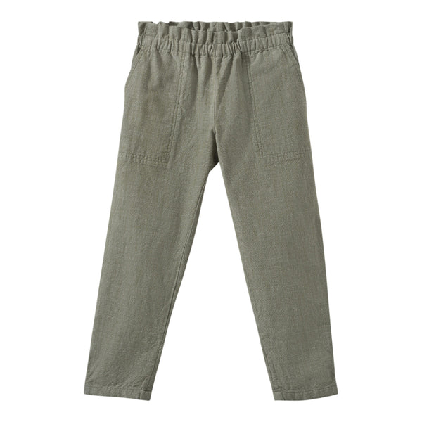 Cotton chambray pants khaki