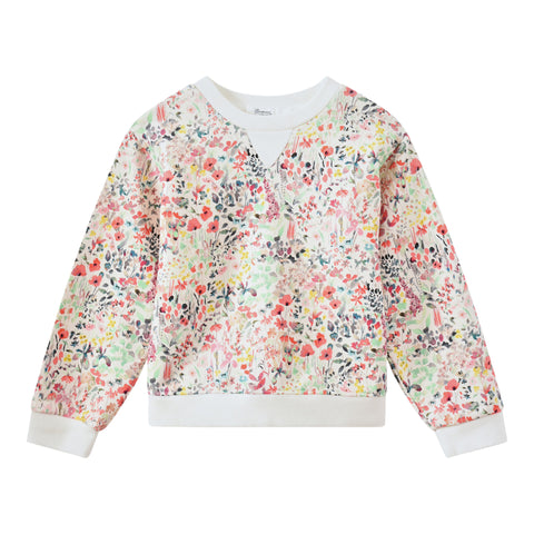 Liberty fabric sweatshirt raspberry