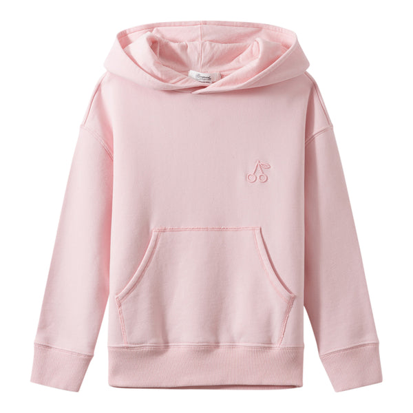Pink sweatshirt with cherry embroidery