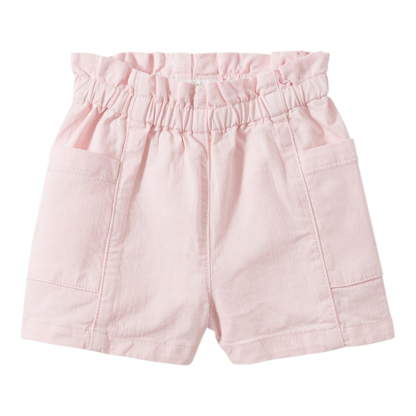 Light denim shorts coral