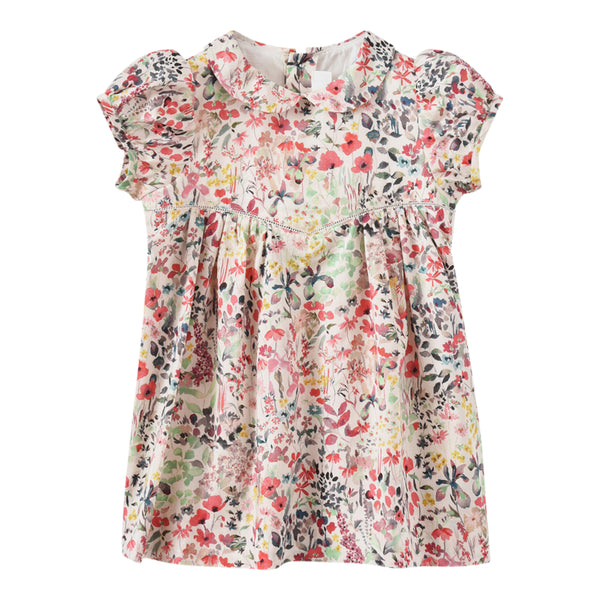 Liberty cotton dress raspberry