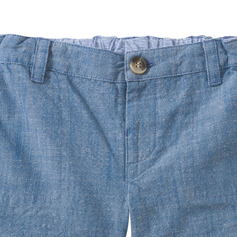 Cotton chambray bermuda shorts ink