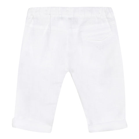 Lightweight white linen pants