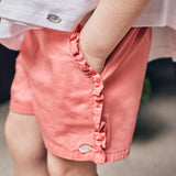 Pink ruffled shorts